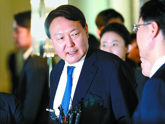 """윤석열 '수사는 절차에 따라 진행"""""""