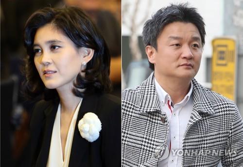 이부진 호텔신라 사장(왼쪽)과 임우재 전 삼성전기 상임고문. [연합뉴스]