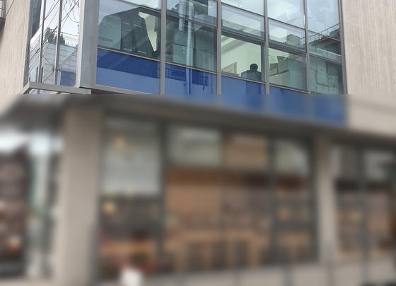 조국 법무부 장관 일가가 투자한 코링크PE와 관계 있는 배터리 업체 IFM의 사무실. 홈페이지에는 본사 사무실로 소개돼 있지만 현재는 쥬얼리 수입 업체가 있다. 신혜연 기자