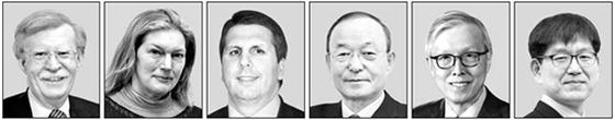 존 볼턴, 캐슬린 스티븐스, 마크 리퍼트, 송민순, 신각수, 박명림(왼쪽부터)