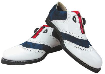 슈올즈는 브이샷 골프화를 최근 새로 출시했다. 오른쪽은 하이스타 운동화. [사진 슈올즈]