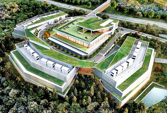 강원 춘천에 있는 네이버 데이터센터 '각'. [사진 충주시]