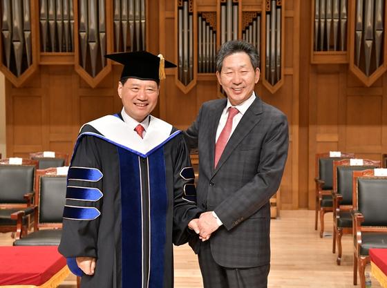단국대 총장 이·취임식 개최