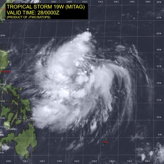 제18호 태풍 미탁의 모습. [자료 미 합동태풍경보센터(JTWC)]