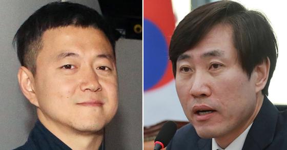 문재인 대통령 아들 준용씨(왼쪽)과 하태경 바른미래당 최고위원(오른쪽) [연합뉴스]