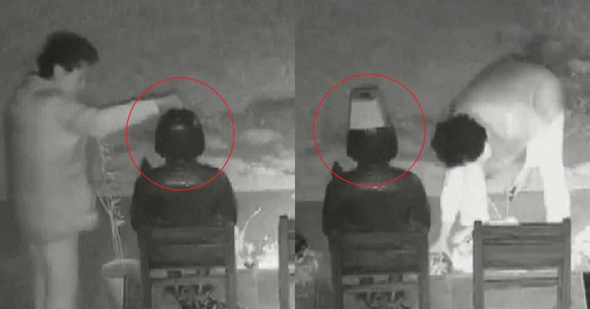 미 캘리포니아주 글렌데일에 세워진 평화의 소녀상 훼손 모습. 현지 경찰은 소녀상 인근 CCTV에 찍힌 영상을 단서로 라틴계 60대 여성을 용의자로 체포해 범행 동기를 조사하고 있다. [소녀상 인근 CCTV화면=SBS뉴스 화면 캡처]