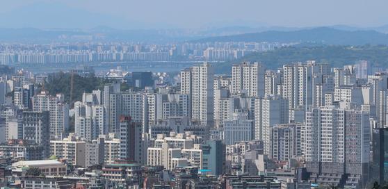 지난달 11일 서울의 아파트 단지들 [뉴스1]