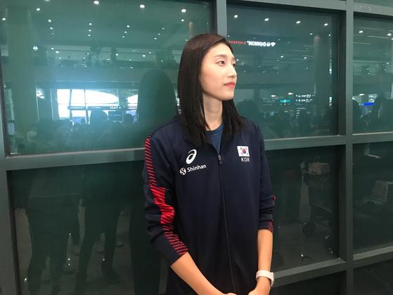 일본에서 열린 여자배구 월드컵을 마치고 30일 귀국한 김연경.
