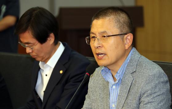 황교안 자유한국당 대표 . 변선구 기자
