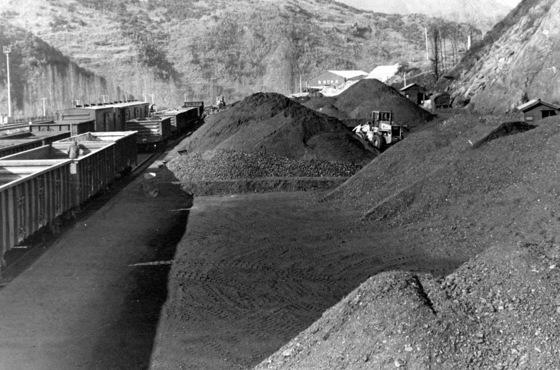 캐내온 석탄이 수북히 쌓여있다. 앞으로 야외에 쌓아둔 석탄, 시멘트 등에서 먼지가 발생해 날릴 경우 사업장에 대해 지자체가 처분을 내릴 근거가 생긴다. 사진은 기사 내용과 직접적 관계 없음. [중앙 포토]