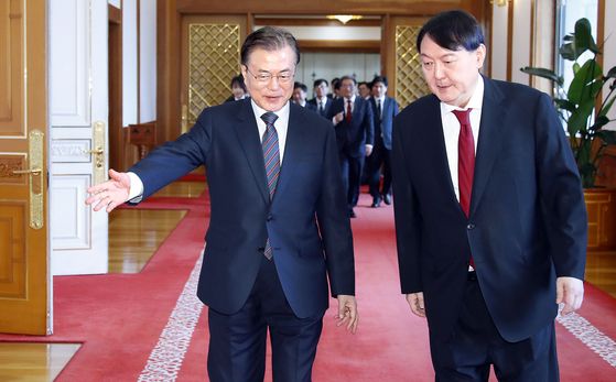 문재인 대통령과 윤석열 검찰총장. [연합뉴스]
