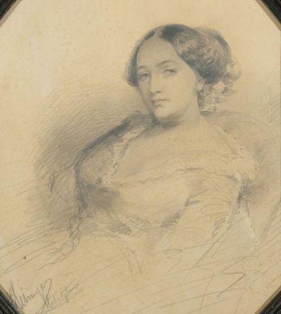 솔랑주. 조르주 상드의 딸. 남편 클레징제 그림. 1849년. Musee de la Vie romantique, Paris 소장. [출처, Wikimedia Commons (Public Domain)]