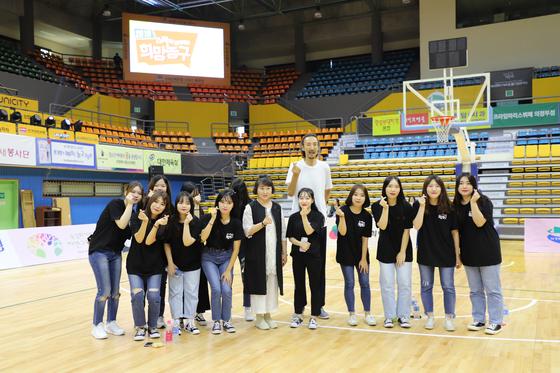 경복대학교 의료복지과 자원봉사단.