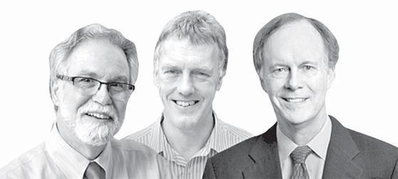 그레그 서멘자, 피터 랫클리프, 윌리엄 케일린(왼쪽부터).