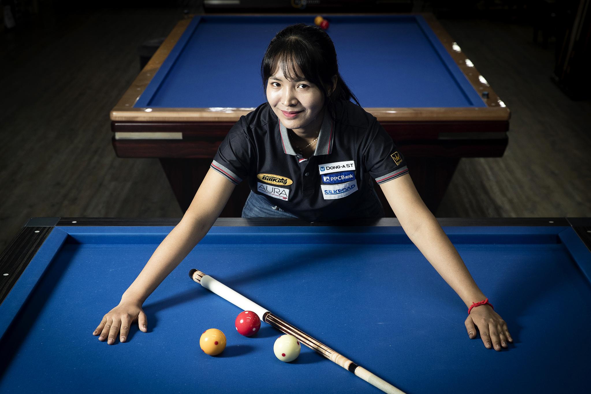 2년 연속 세계 여자3쿠션 세계선수권대회 3위에 오른 당구 캄보디아댁 스롱 피아비. 장진영 기자