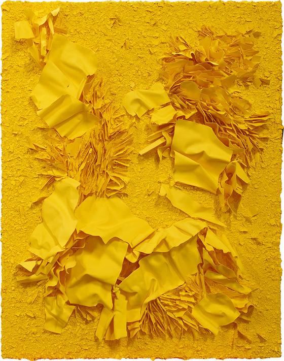 김지아나, Yellow inside yellow-1901_91x117cm_Porcelain, Stain, Polyvinyl acetate resin_2019.