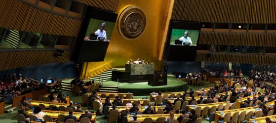 지난달 17일 미국 뉴욕에서 열린 제74차 유엔총회. [유엔 홈페이지]