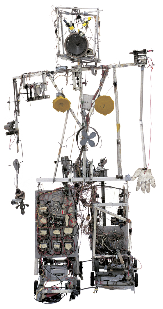 백남준의 첫 로봇 작업 Robot K-456 1964. 20-channel radio controlled robot, aluminium profiles, wire, wood, electrical divide, foam material, and control-turn out 1830 x 1030 x 720 mm Courtesy Friedrich Christian Flick Collection in Hamburger Bahnof [사진 테이트 모던]