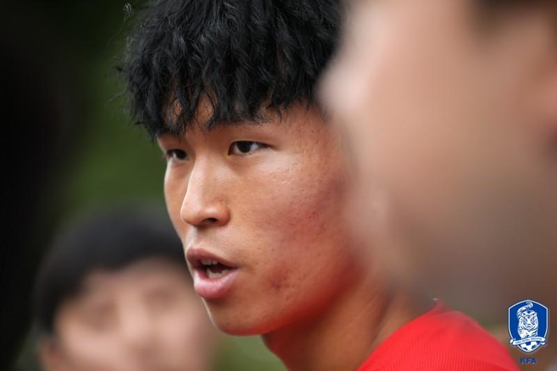 한국 22세 이하 축구대표팀 공격수 독일 프라이부르크의 정우영. [사진 대한축구협회]