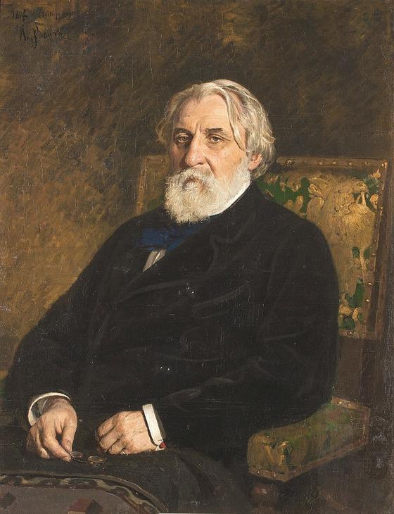 이반 투르게네프. 일리야 레핀의 유화. 1874년. Tretyakov Gallery, 모스크바 소장. [사진 Wikimedia Commons (Public Domain)]