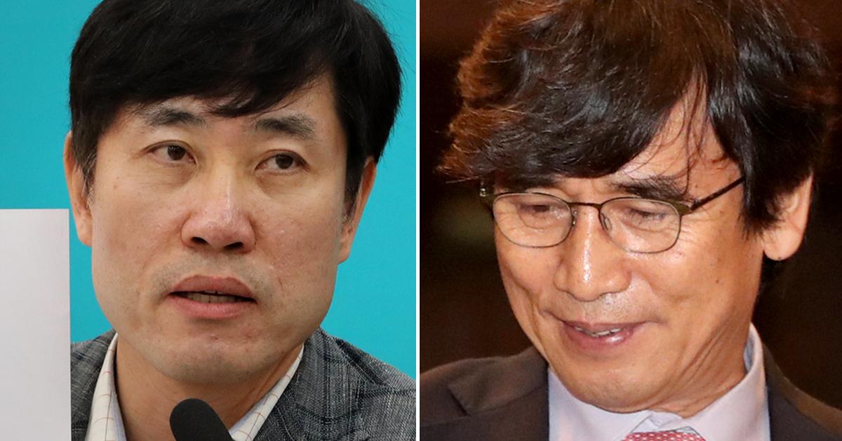 하태경 바른미래당 의원(왼쪽)과 유시민 노무현재단 이사장. [연합뉴스·뉴스1]