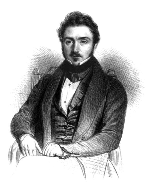 폴린의 남편 루이 비아르도. 그는 작가에 평론가, 음악감독이었다. 에밀 라살 드로잉. 1840년. [사진 Wikimedia Commons (Public Domain)].