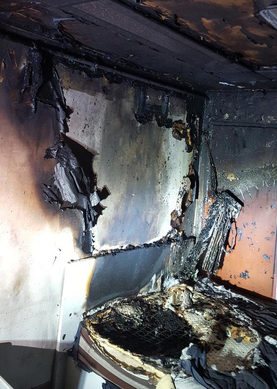 진주 9층짜리 오피스텔 화재…1명 연기 흡입해 중상