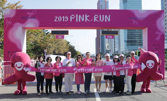 유방암에 관심을 ... 1만 명 핑크런