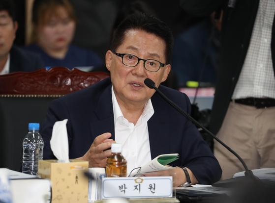 """박지원 """"일부 與의원들, 나보고 조국 사퇴 말해 달라더라"""""""