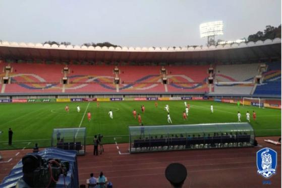 한국 축구대표팀이 29년 만의 평양 원정에서 0-0으로 비겼다. [사진 대한축구협회]