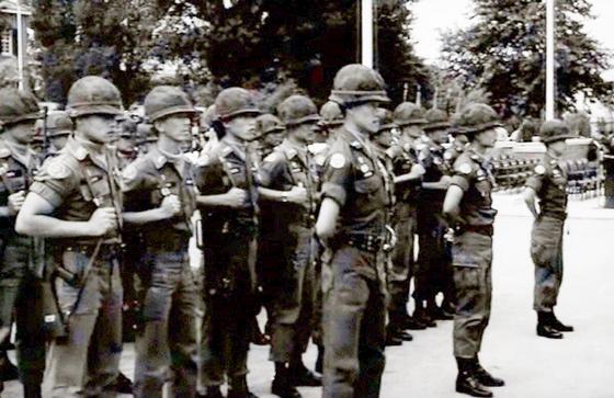 주한태국군의 철군 행사 모습. 태국군은 미군 다음으로 가장 오랫동안 한국에 주둔했다.[영상캡처= 행정안전부 유튜브]