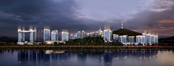 서울 용산구 한남3구역 재개발 사업장에 대해 GS건설이 제안한 조감도 [사진 GS건설]