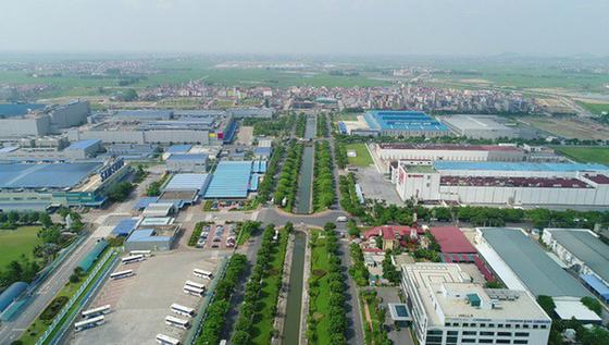 베트남 옌퐁(Yen Phong) 공단 전경. 삼성전자 등 국내 기업 다수가 입주해 있다. [사진 코트라]