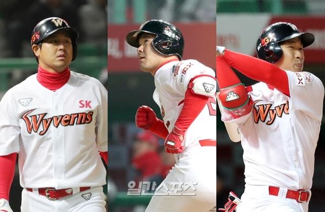 (왼쪽부터) SK 최정·이재원·고종욱. IS포토