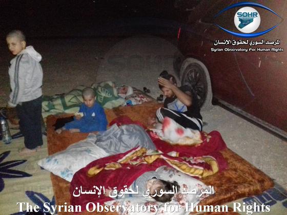 시리아인권관측소가 15일(현지시간) 페이스북을 통해 공개한 피란민들의 현실. [페이스북 캡처]
