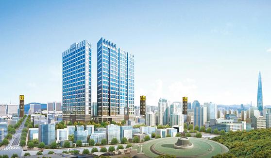 서울의 부동산 투자 1번지로 꼽히는 강남의 노른자에 고품격 인테리어를 갖춘 중소형 고급 주거시설 '지젤 시그니티 서초'가 분양을 앞두고 있다. 이미지는 지젤 시그니티 서초 투시도.