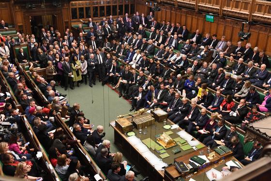 보리스 존슨 총리의 합의안을 다루기 위해 37년 만에 토요일에 문을 연 영국 하원 [로이터=연합뉴스]