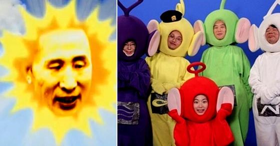 정치 풍자 코미디 '여의도 텔레토비'의 일부 화면. [사진 tvN 캡처]