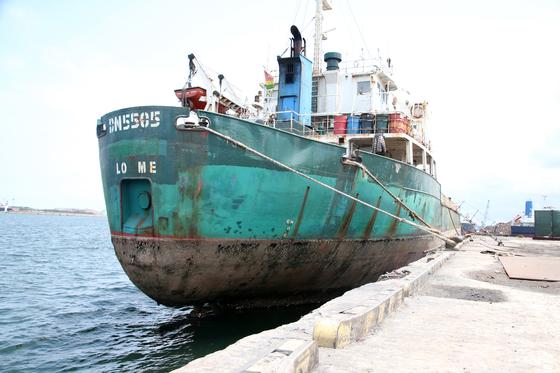 북한산 석탄 반입 의혹을 받고 있는 토고 국적 선박 'DN5505'호. [연합뉴스]