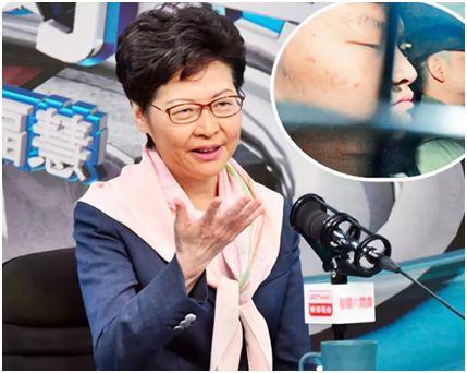 캐리 람 홍콩특구 행정장관은 19일 홍콩 시위를 촉발한 살인 용의자 천퉁자가 대만으로 가서 법의 심판을 받겠다는 뜻을 밝힌 서한을 받았다고 밝혔다. [환구망 캡처, 홍콩 성도일보]