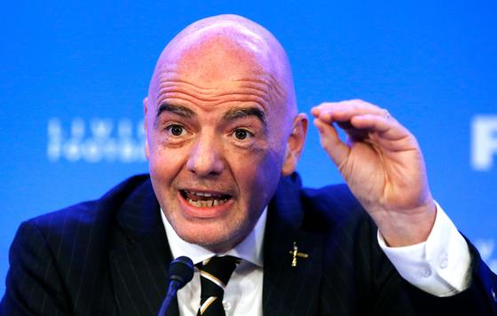 잔니 인판티노 FIFA 회장. 세계축구계에 중국의 참여를 확대하기 위해 노력 중이다. [AFP=연합뉴스]