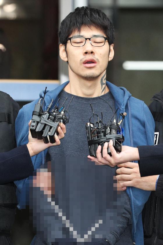 PC방 아르바이트생을 살해한 혐의로 구속된 피의자 김성수. [뉴스1]