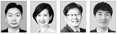 김태훈, 김연주, 정상윤, 김장석(왼쪽부터)