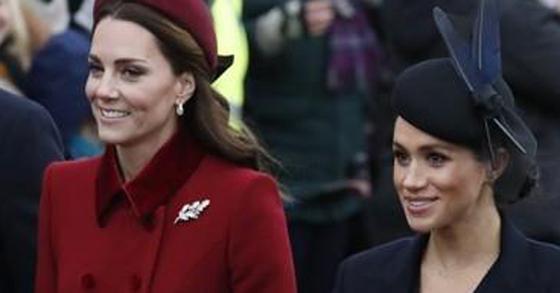 영국의 케이트 미들턴 왕세손빈(왼쪽)과 메건 마클 왕자비 [연합뉴스]