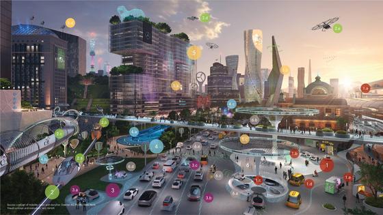 메르세데스-벤츠는 22일 서울 가로수길에 'EQ 퓨처 전시관을 열고, 미래 모빌리티의 방향성을 제시했다. [사진 메르세데스-벤츠]