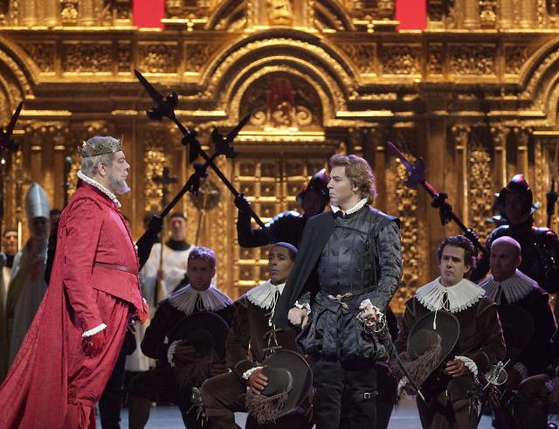 베르디의 오페라 '돈 카를로'는 독일의 작가 프리드리히 쉴러의 원작을 바탕으로 사랑하는 약혼녀가 아버지와의 정략 결혼으로 새 어머니가 되는 비극적인 사랑을 노래합니다. [사진 용인문화재단]