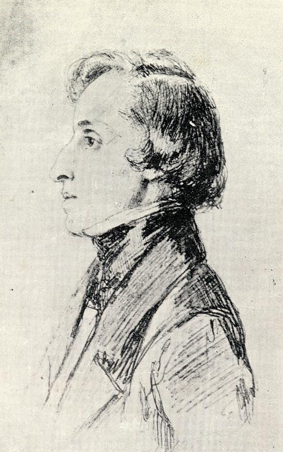 프레데릭 쇼팽. Franz Xaver Winterhalter 그림. 1847. [출처, Wikimedia Commons (Public Domain)]