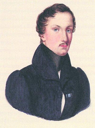 얀 마투진스키. 바르샤바 리세움 재학시절부터 쇼팽과 친구 사이였으며 파리에서 의학 공부할 때는 같은 아파트에서 거주하기도 했다. 1840. 작가 미상. [출처, Wikimedia Commons (Public domain)]