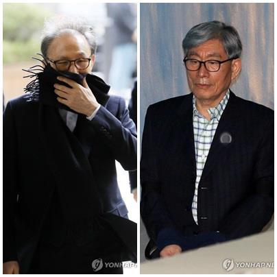 이명박 전 대통령과 원세훈 전 국정원장. [연합뉴스]