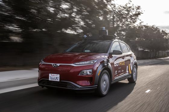 현대자동차는 자율주행 스타트업 포니.ai, 비아 등과 함께 내달 4일 미국 캘리포니아주 어바인에서 일반인을 대상으로 한 자율주행 승차공유 서비스를 시작한다. [사진 현대자동차]